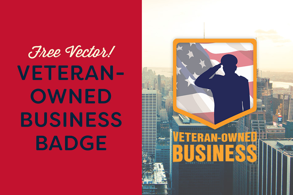 We're offering a free vector badge for Veteran Owned business! Enjoy!