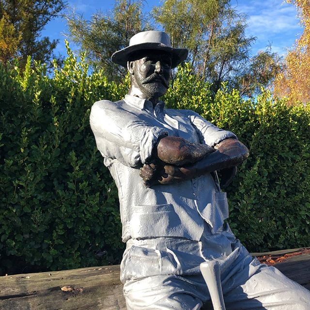 If you're visiting Waimate, don't leave without saying hi (and getting a selfie) with the bushman.  Artist Donald Paterson took a year to sculpt him. He's constructed of marble-based filler, resin-coated clothing and bronze hands, head and hat. The sculpture is a nod to our early saw milling heritage.  You'll find him quietly observing the passing traffic on Queen Street near the Council buildings.