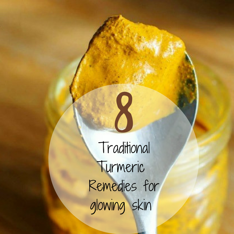 8 Traditional Turmeric remedies for glowing skin
