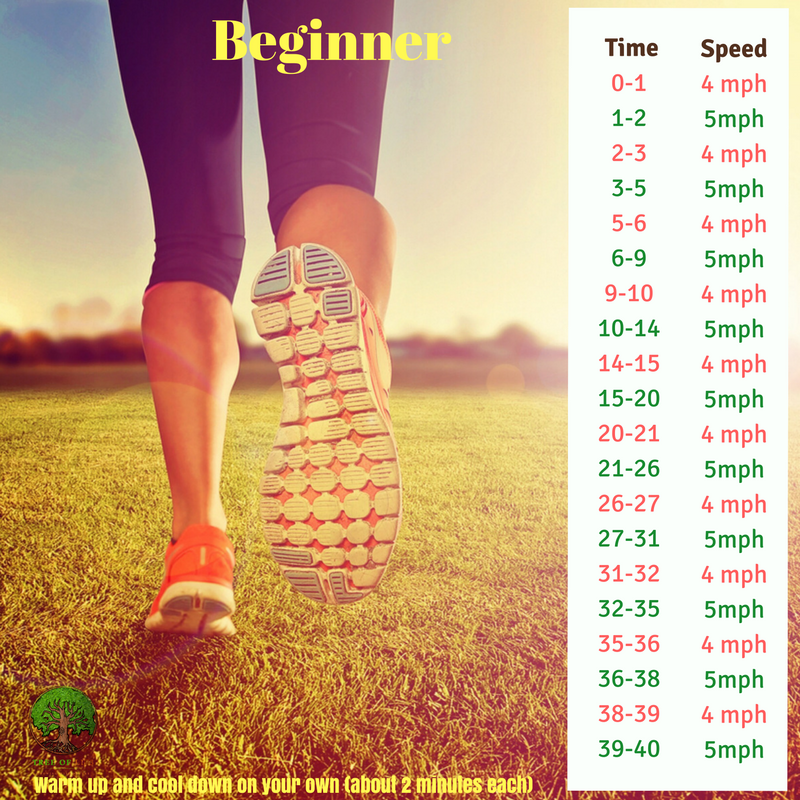 Get it?5-4-3-2-1??  You run for 1 -2 3- 4 -5 minutes with a 1 min walk between each run!  And then back 5-4-3-2-1 min run with a 1 min walk in between runs ;)