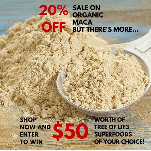 Follow us on Twitter for ridiculously awesome, daily info on superfoods! 🐦@TREEOFL1F3 IN OTHER NEWS  About 8 hours left until this awesome SALE ENDS! So hurry and get this value deal!  20% off MACA + a chance to WIN $50 in superfoods of your choice! Don't forget, this means THE BALANCE is on SALE too!  Get Super™ Click link in bio to shop - - - - - - #Twitter #tweet #superfood #knowledge #superfoods #Health #wellness #wellbeing #Maca #Macaroot #Macaroot  #Giveaway #superfoodgiveaway #Sunday #Sundaygiveaway #Lifeisgood #eatclean #smoothie #Recipes #Plantbased #plantpower #Macapowder #rawmaca #peruvianmaca #plantstrong #Vegan #Glutenfree #Superfoodsmoothie #13love #TLC