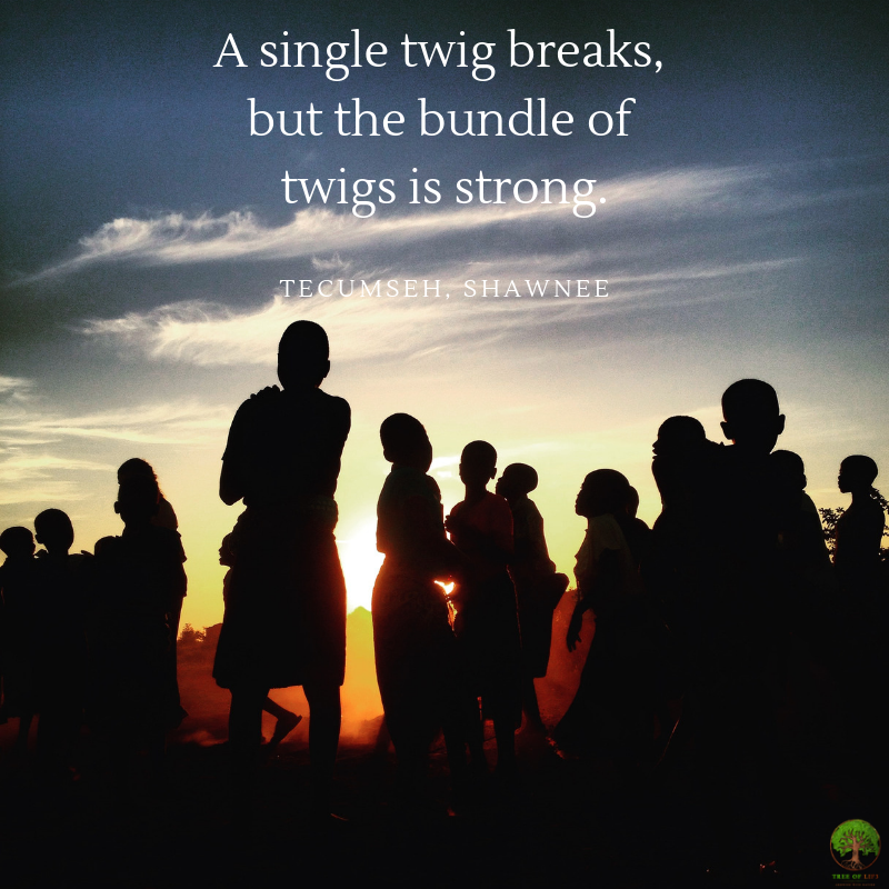 A single twig breaks, but the bundle of twigs is strong. — Tecumseh, Shawnee.png