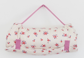 Little-Bean-Nap-Mat-in-Wht-Floral-Polka-Dot-with-Lilac-Strap-150-.png