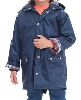 american apparel kids flannel-lined rain parka