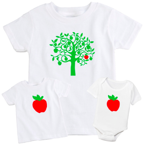 The Spunky Stork Apple Tree Set, $40-