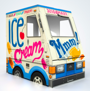 Famous OTO Ice Cream Truck, $59- (large), $29-(small)
