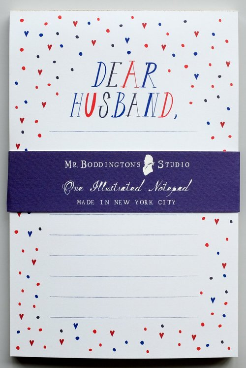 Mr. Boddington's Dear Husband Notepad, $8-.jpg