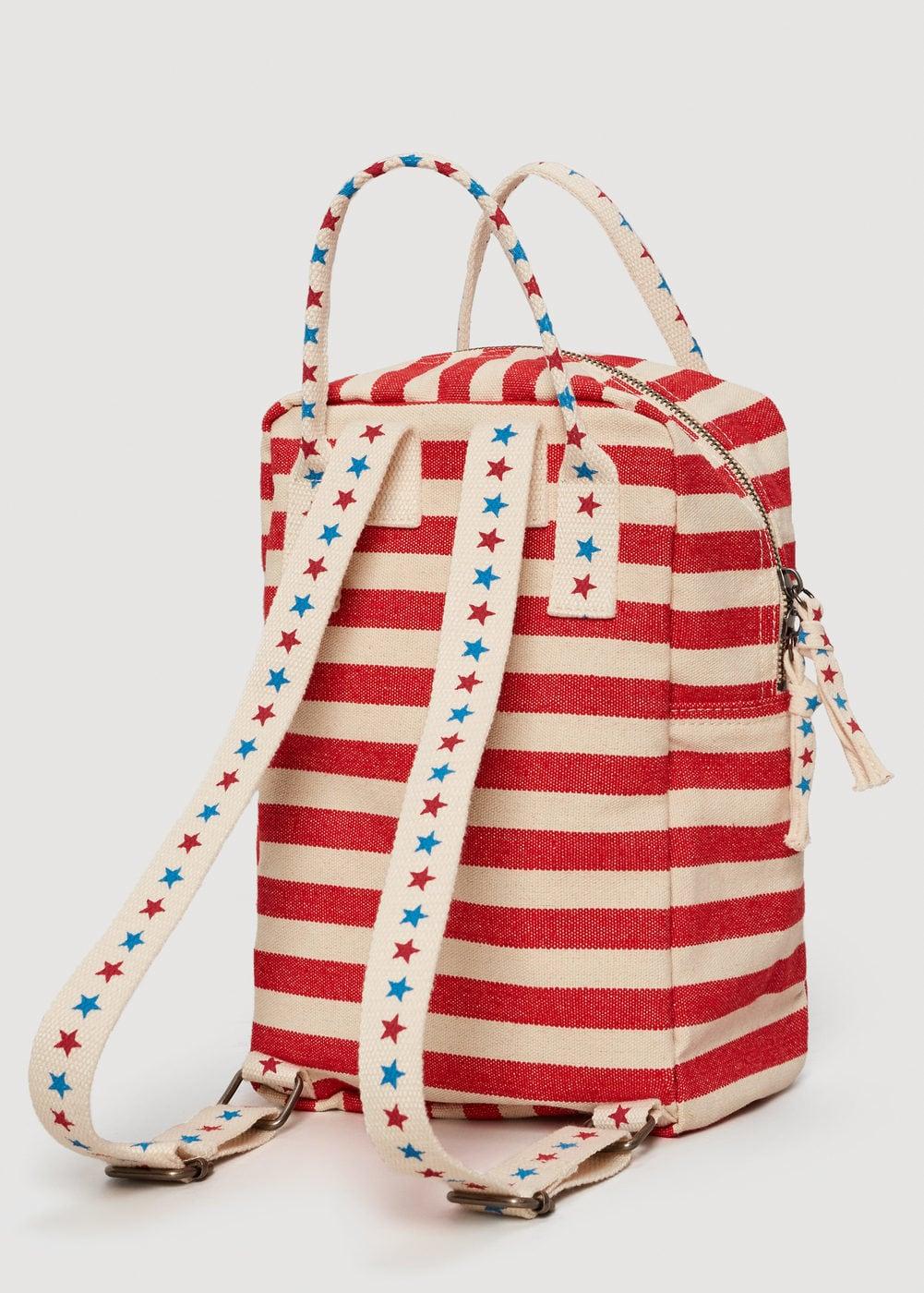 Mango Kids Striped Canvas Backpack, $39.99-.jpg