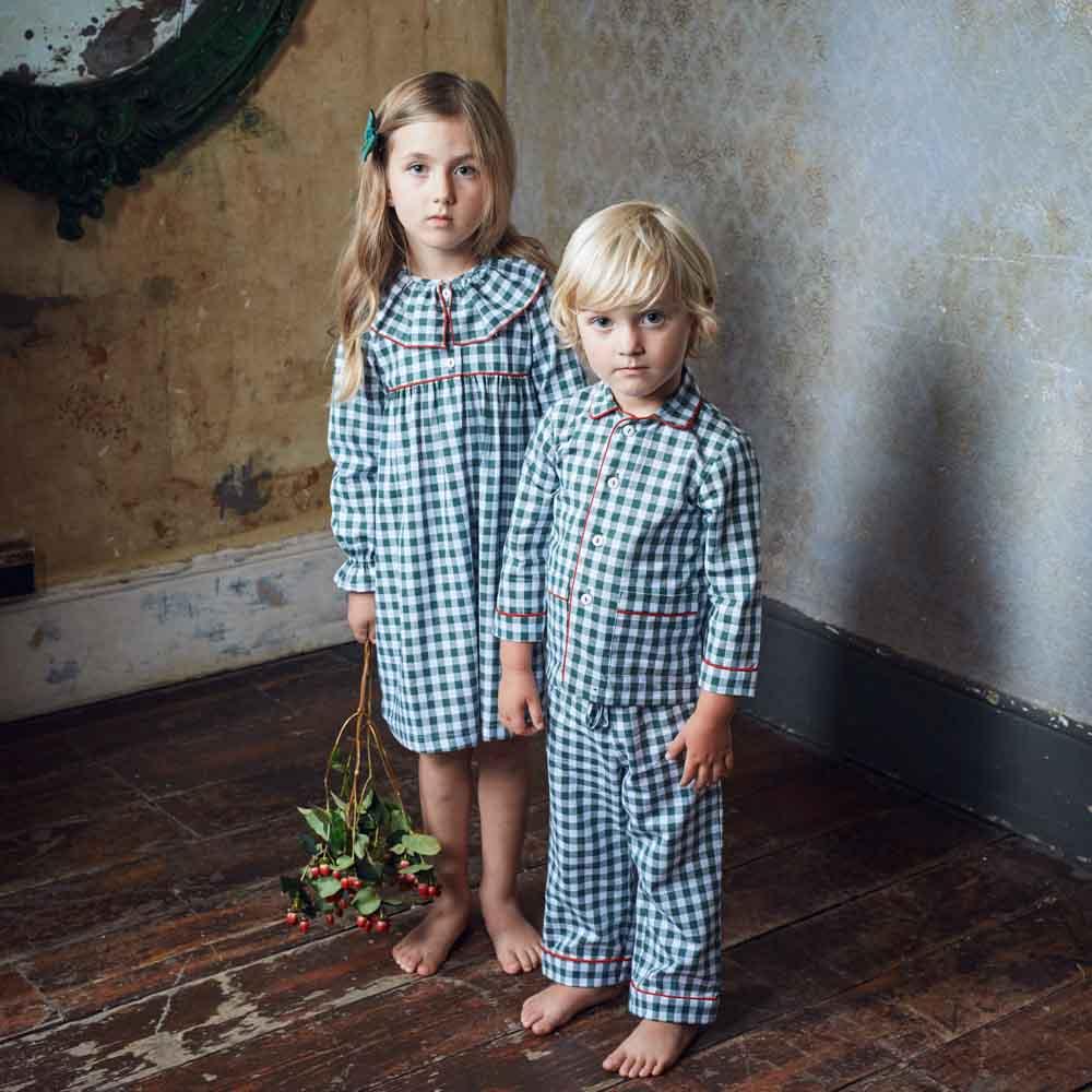 La Coqueta Oliva Girl + Boy Pyjama, $60.26 (each set) -.jpg