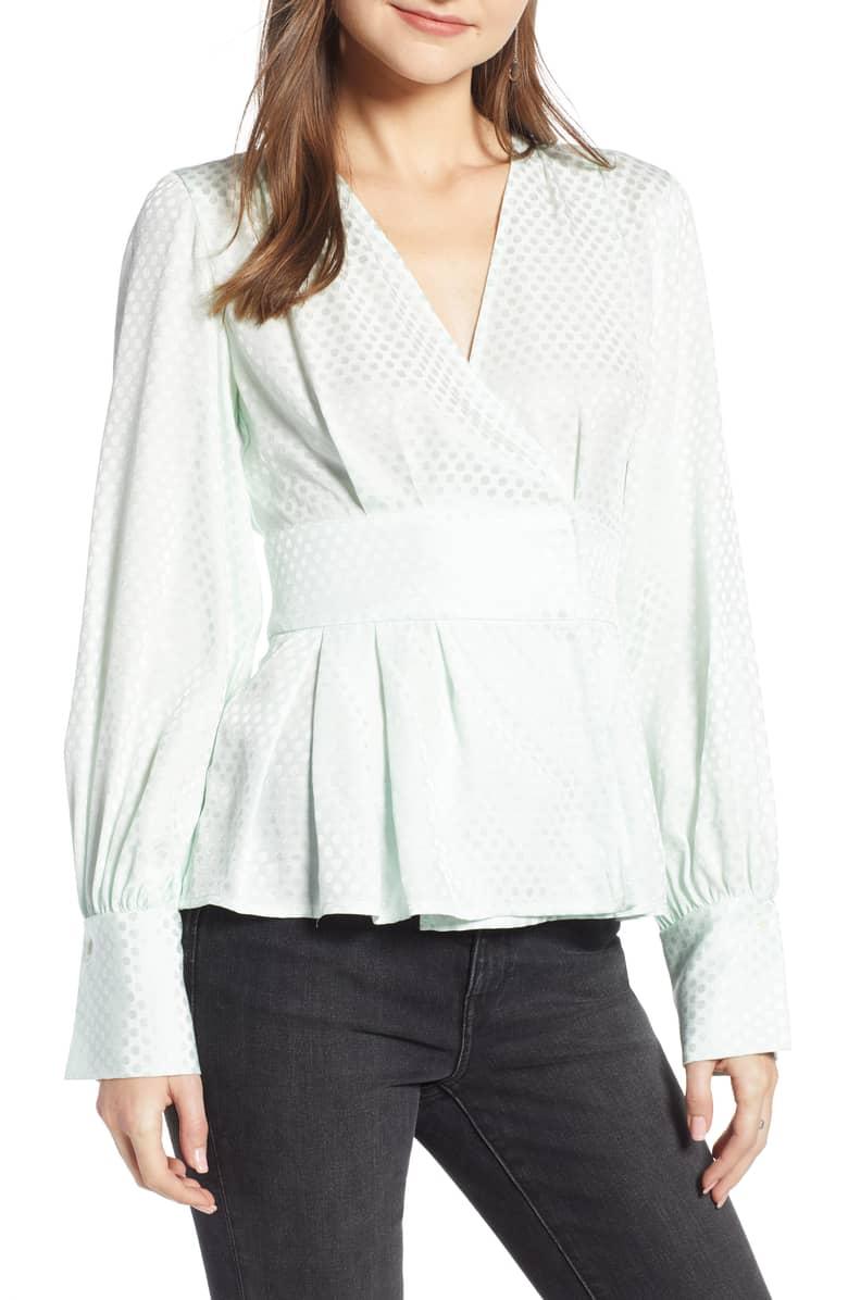 Arielle Charnas Waist Detail Jacquard Top, $95-.jpeg