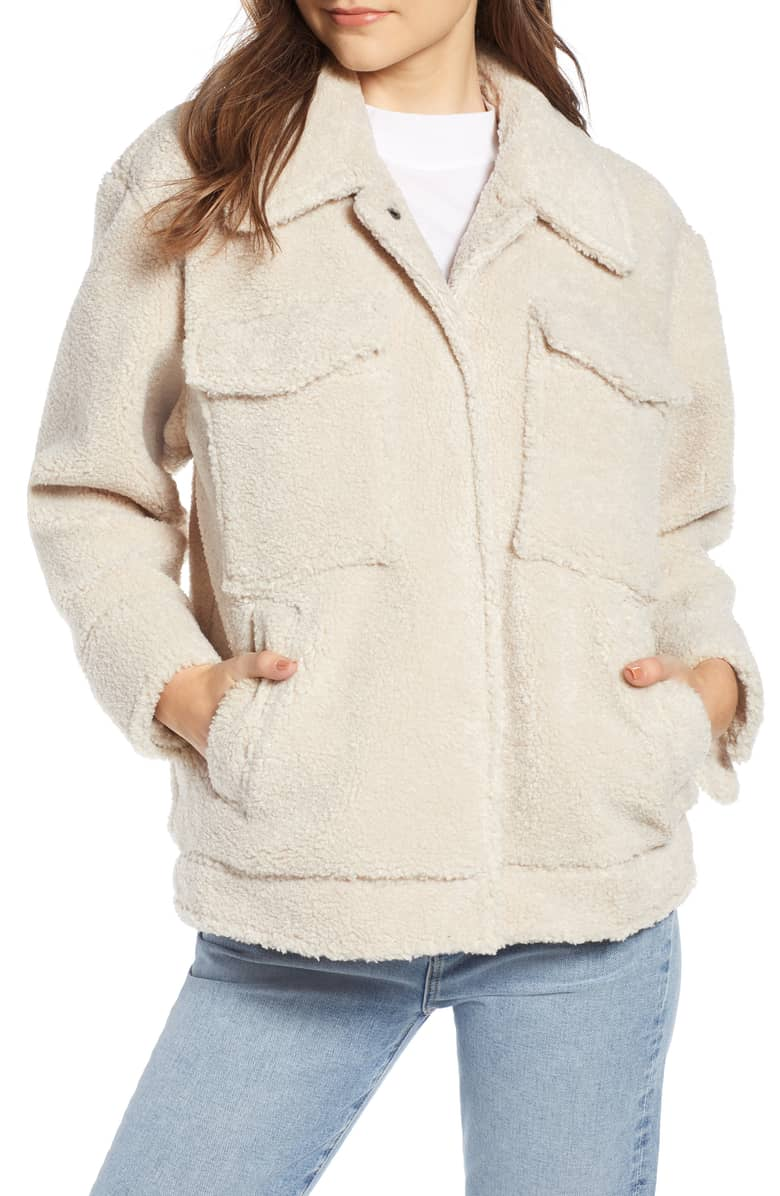 Something Navy Faux Shearling Jacket, 149-.jpeg