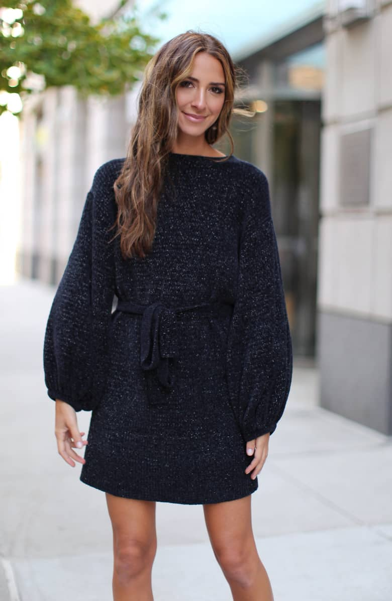 Something Navy Shimmer Sweater Dress, $149-.jpeg