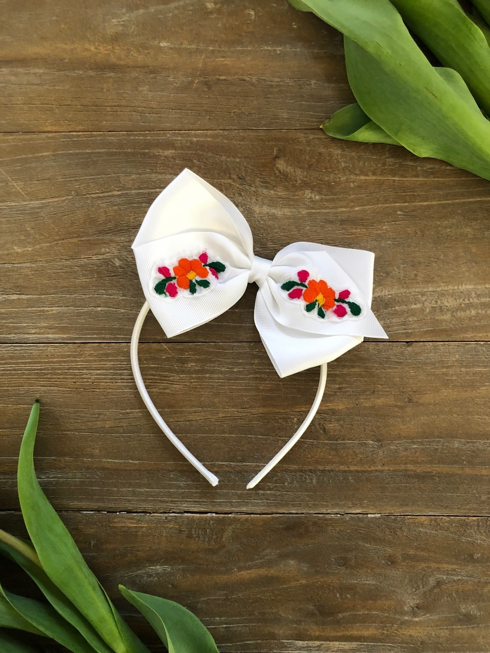 Allegra and Luca Interchangeable Headband:Clip Embroidered Bow.jpeg