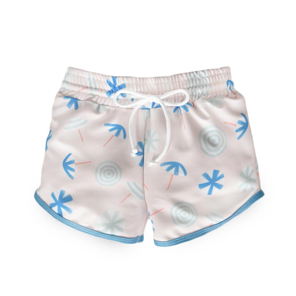 beach umbrellas drawstring trunks -