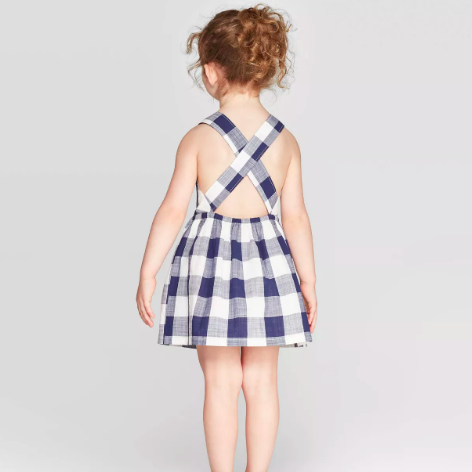 Target Gingham Woven Dress, $15-.png