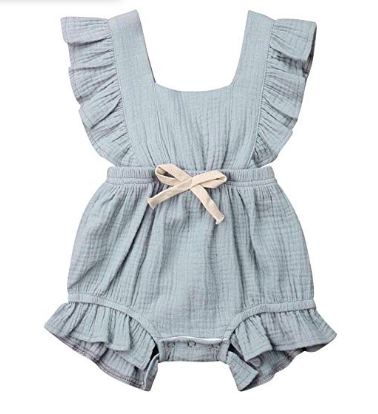 Baby Ruffle Romper | Sun Suit, $11-
