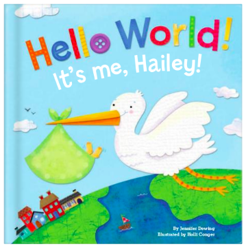 Hello World! Personalized Baby Book, $29.50-