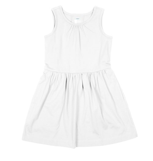 White Cotton Dress for Girls