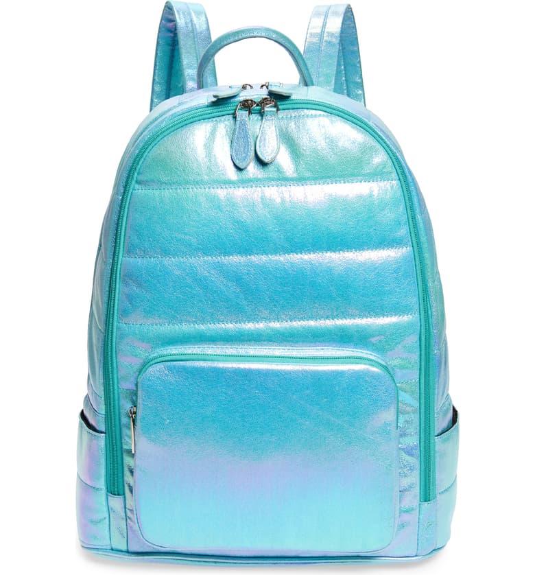 Nordstrom Bari Lynn Puffy Hologram Galaxy Metallic Backpack, $64-.jpeg