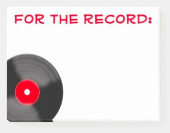 Record Music Teacher Post It