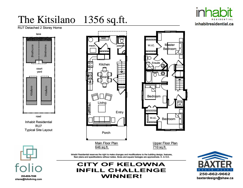Inhabit Residential Kitsilano Plan