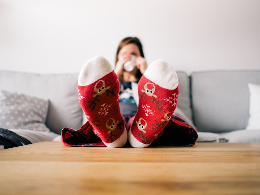 Put your feet up, make some hot chocolate, and watch some Holiday movies.