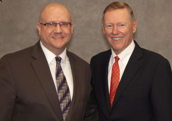 Michael with Alan Mulally, Former CEO of Ford Motor Company and Boeing