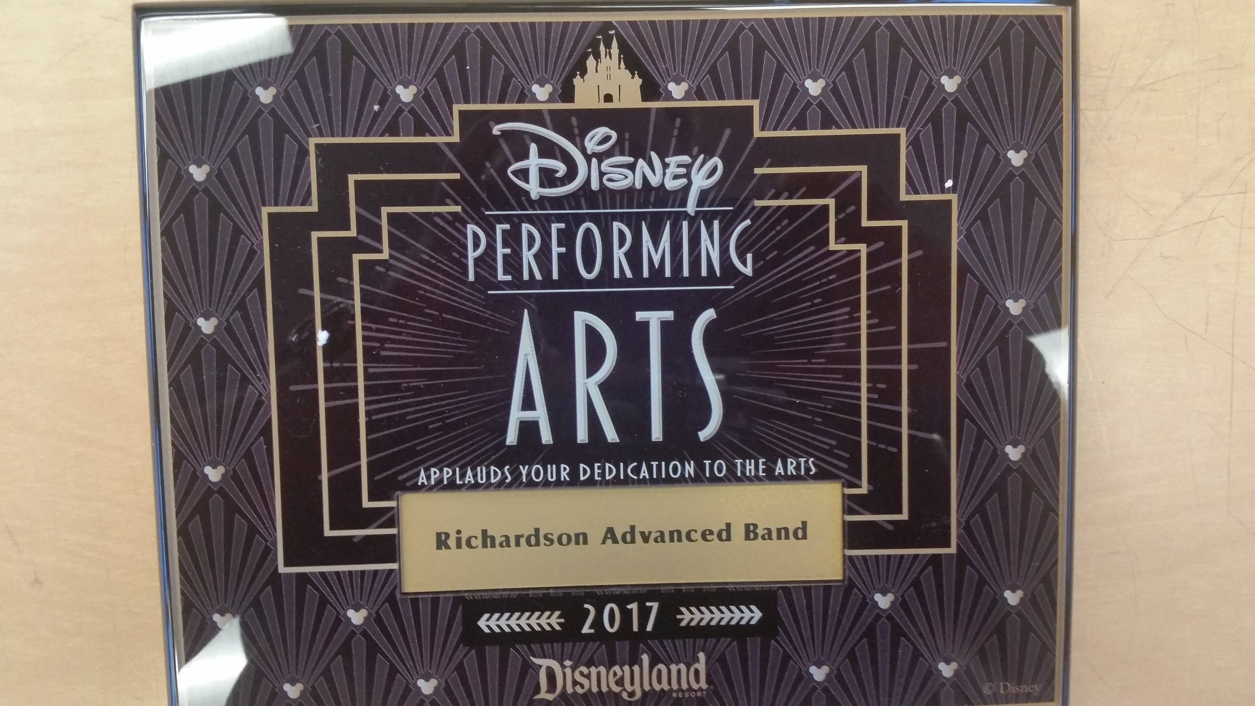 Disneyland Soundtrack Workshop Plaque May 30th. 2017