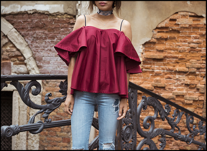 aimee_song_of_style_red_ruffle_off_the_shoulder_top_ag_jeans_celine_earrings.jpg