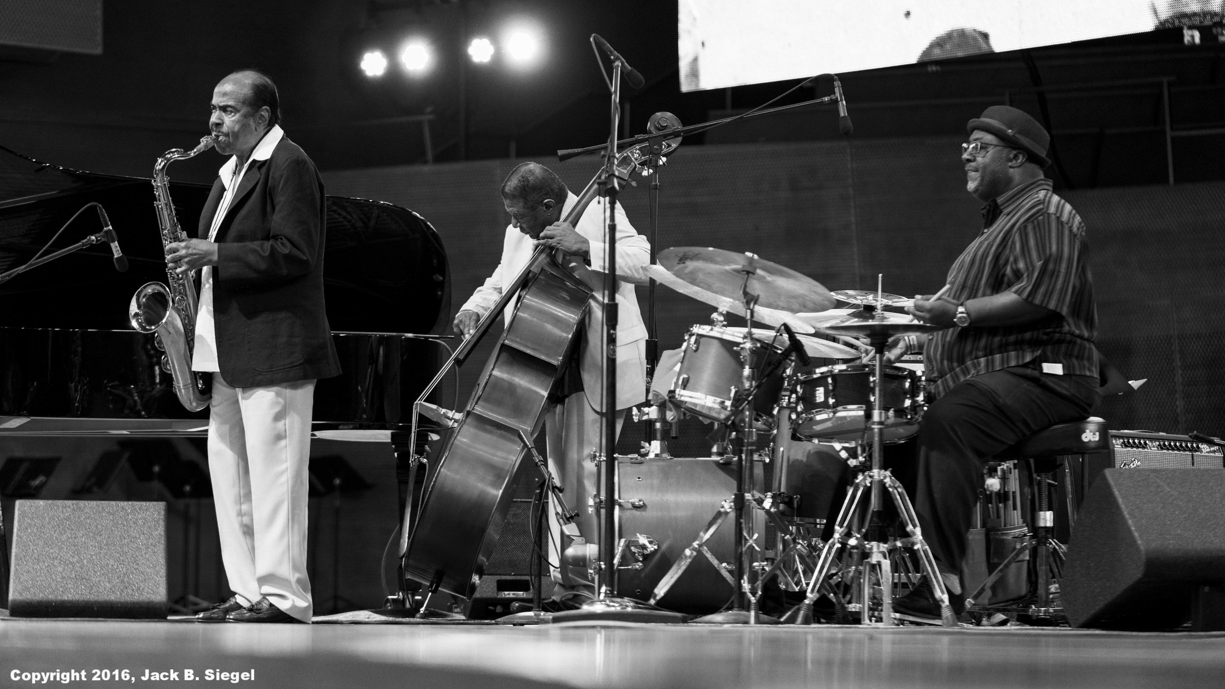 Benny Golson (s), Buster Williams (b), and Carl Allen (d)