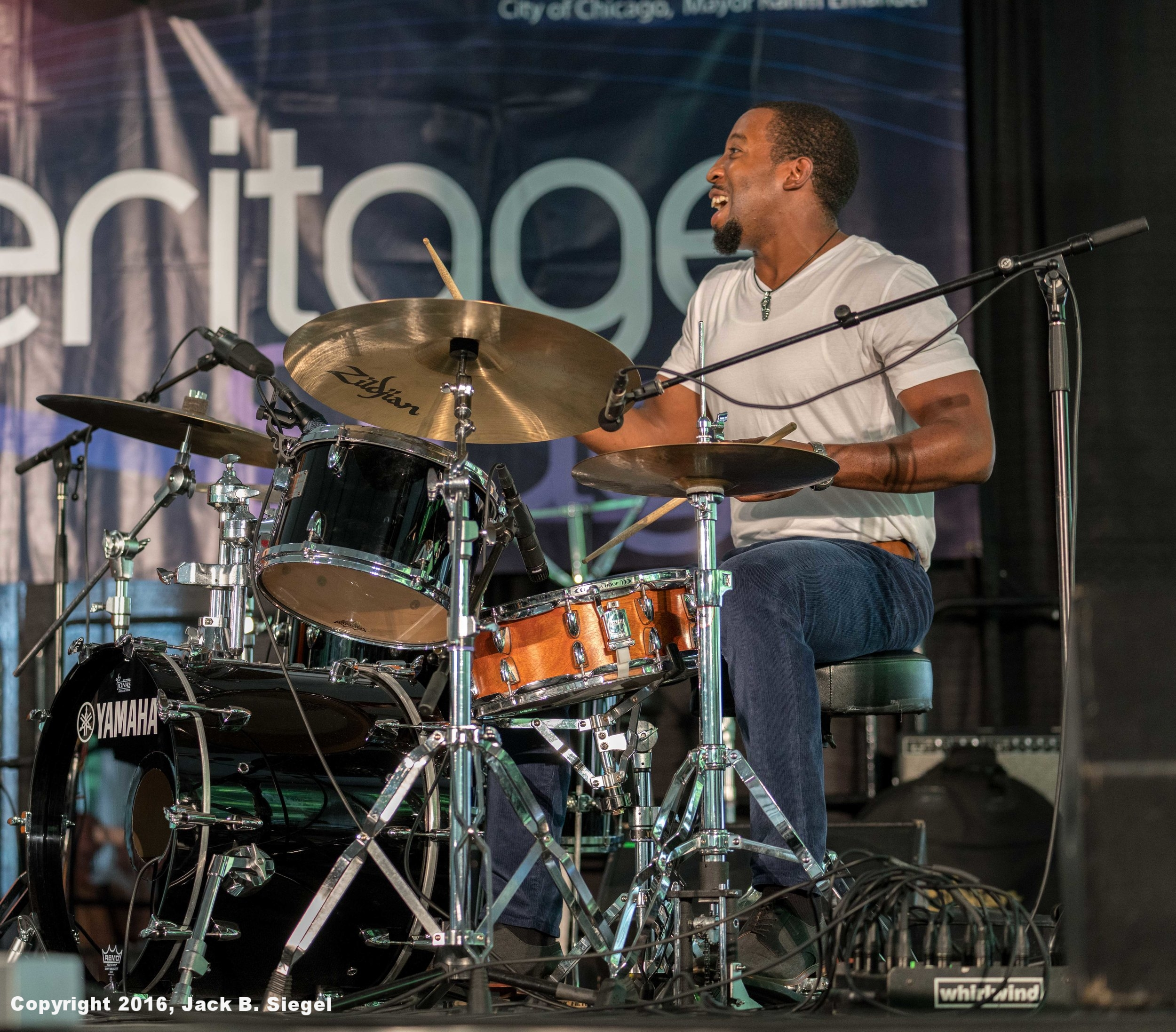 Greg Artry on Drums with Norman Simmons