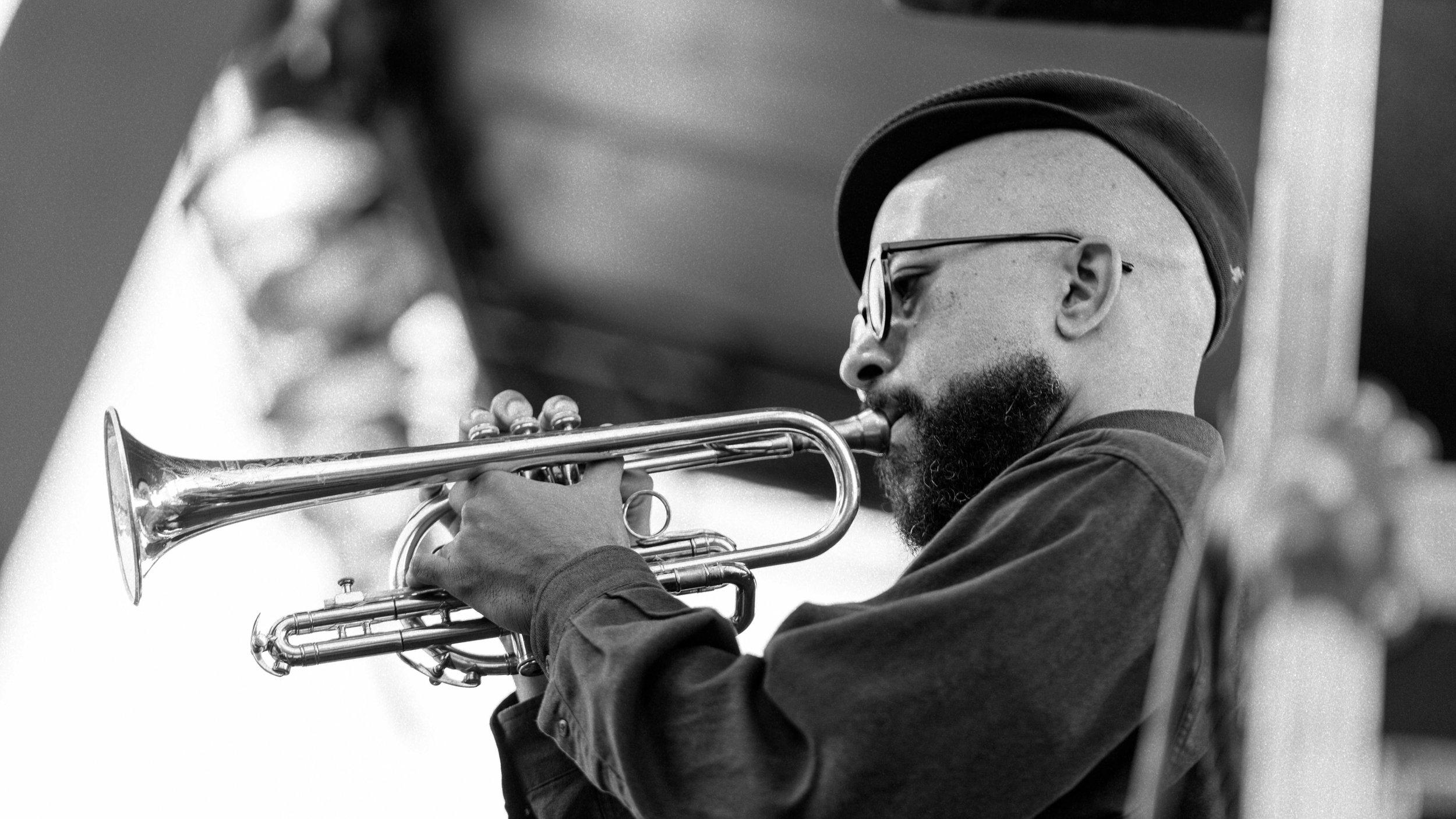 Ben Larmar Gay on Trumpet with Greg Ward & 10 Tongues
