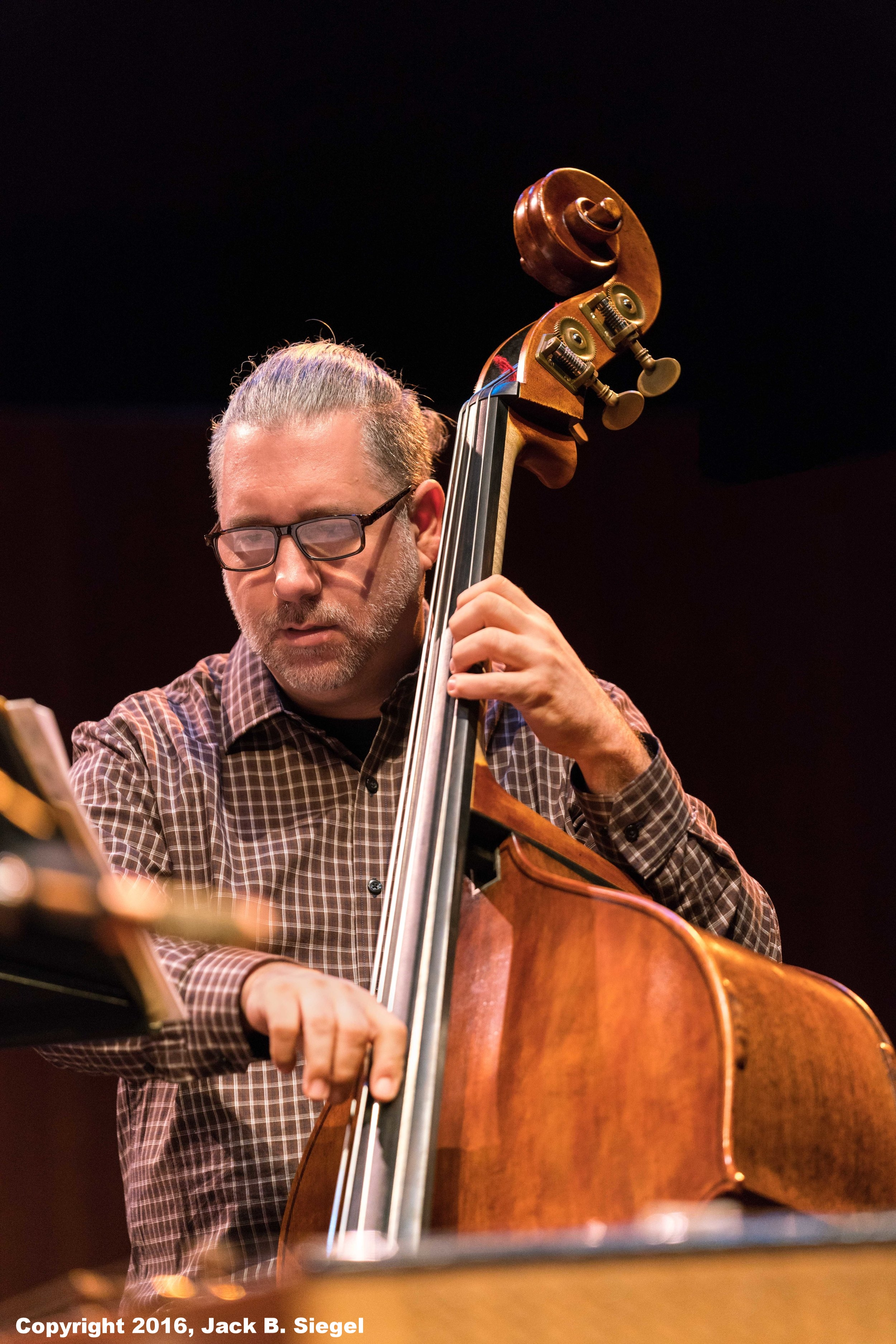 Carlos DeRosa on Bass with the Two Rivers Ensemble