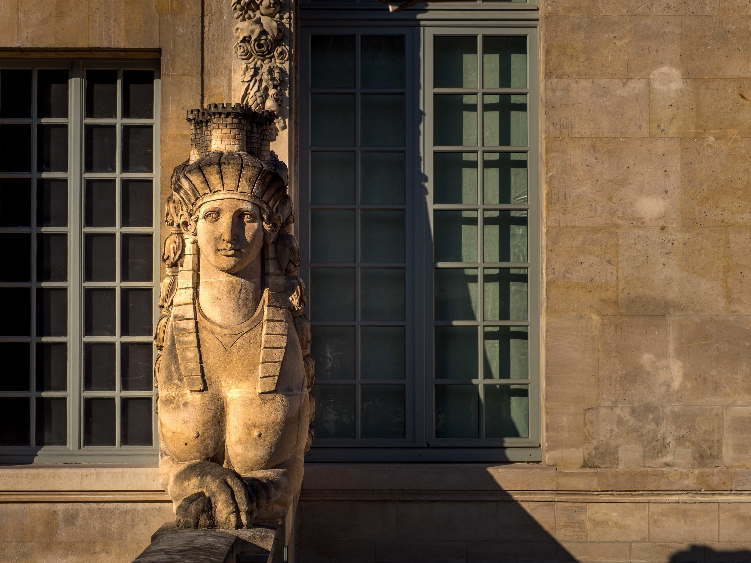 Female Sphinx Outside the Picasso Museum
