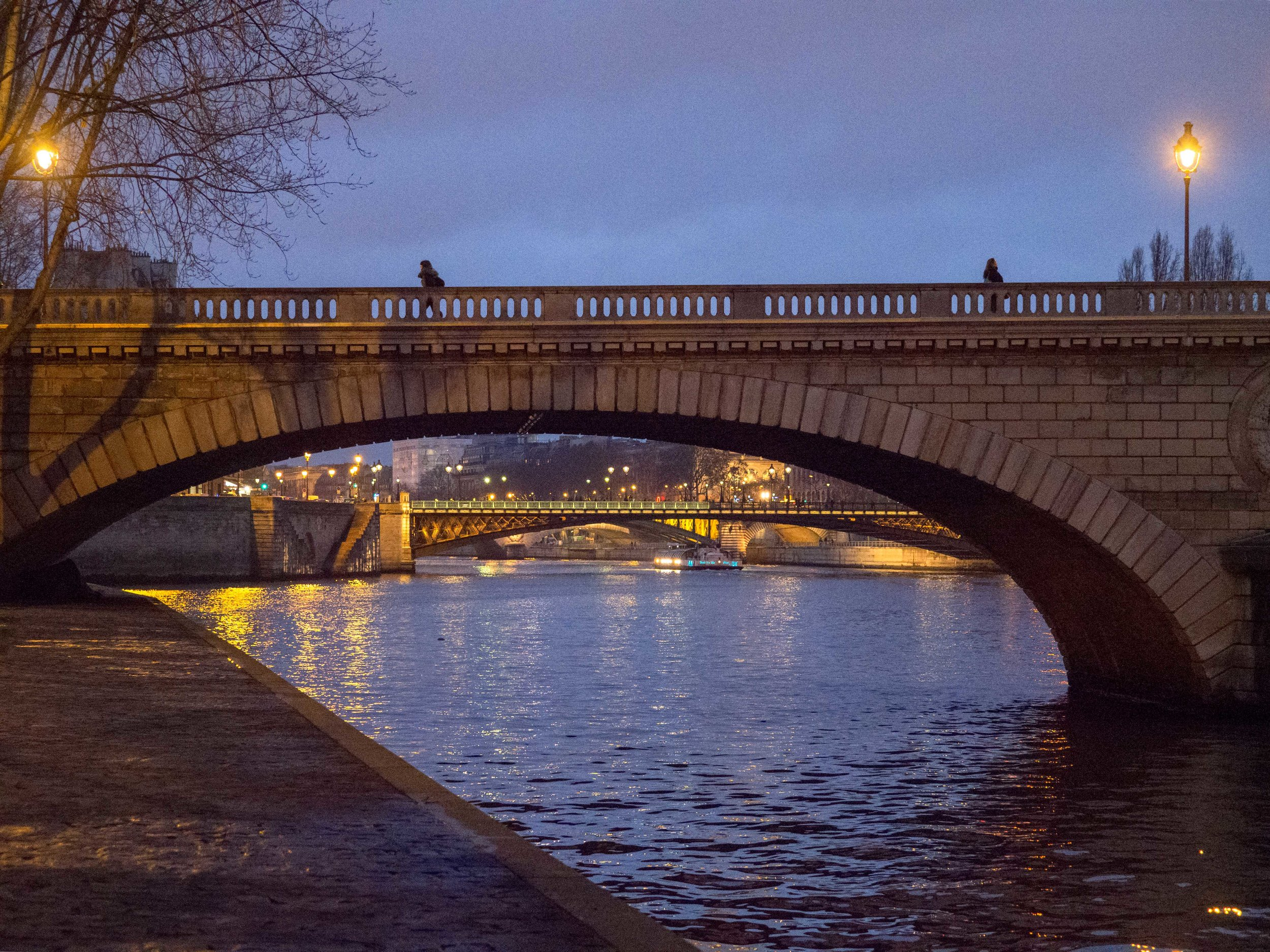 Double Bridge at Night
