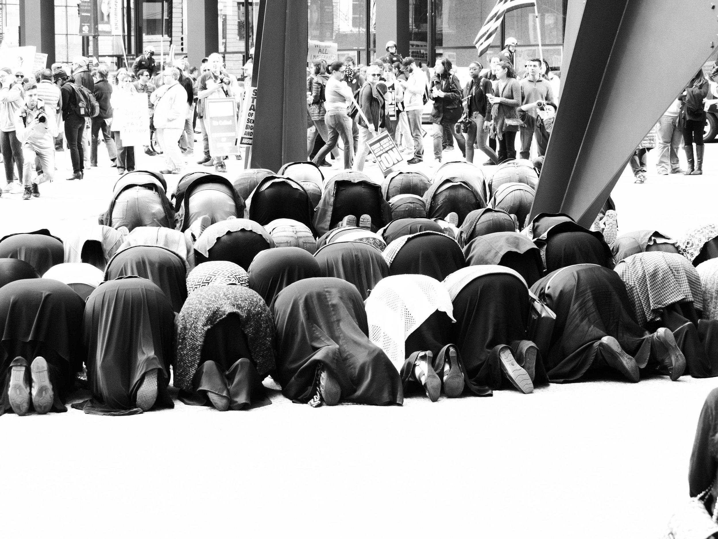 Prayer in Federal Plaza