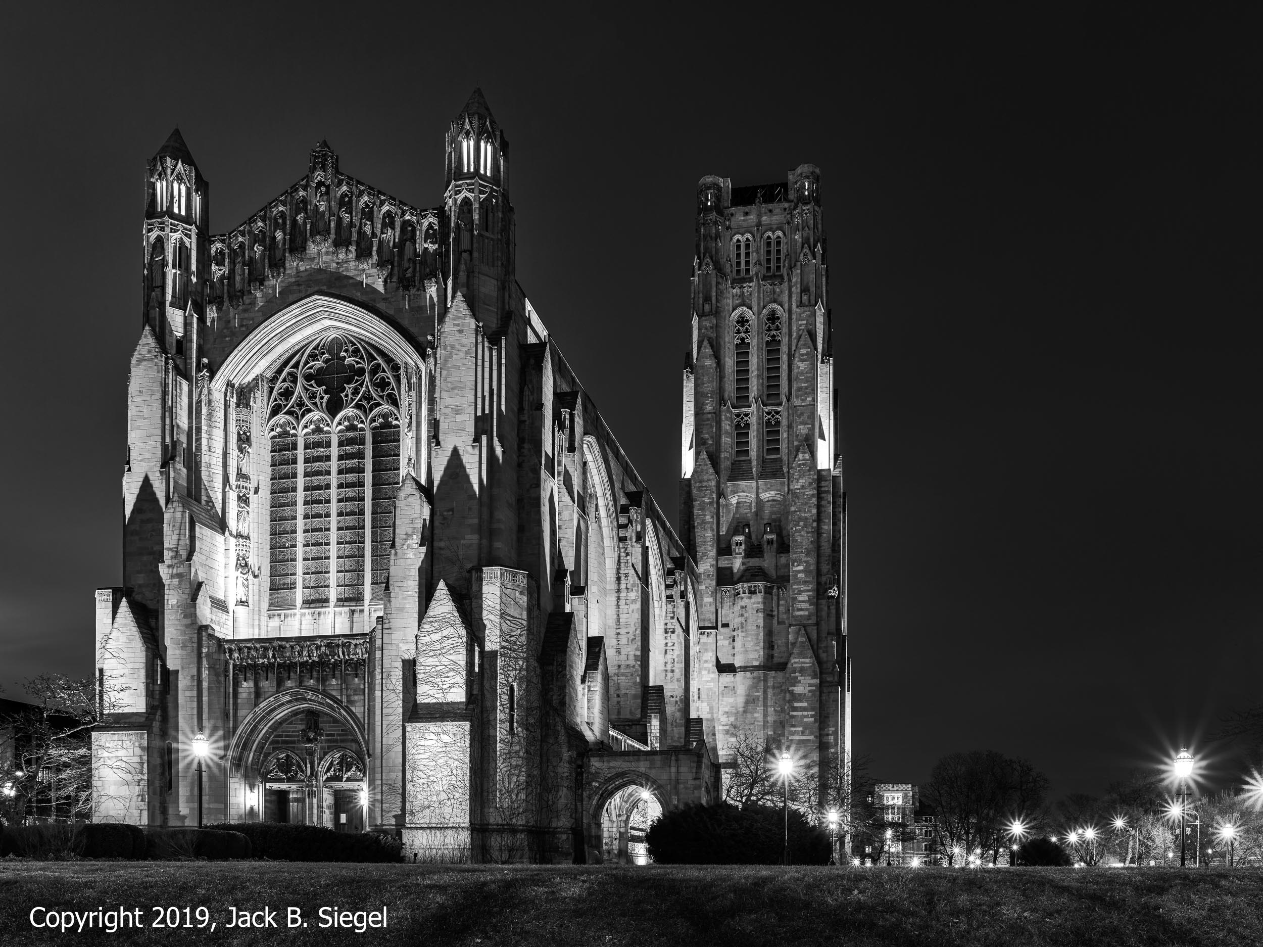 Rockefeller Chapel on the University of Chicago Campus