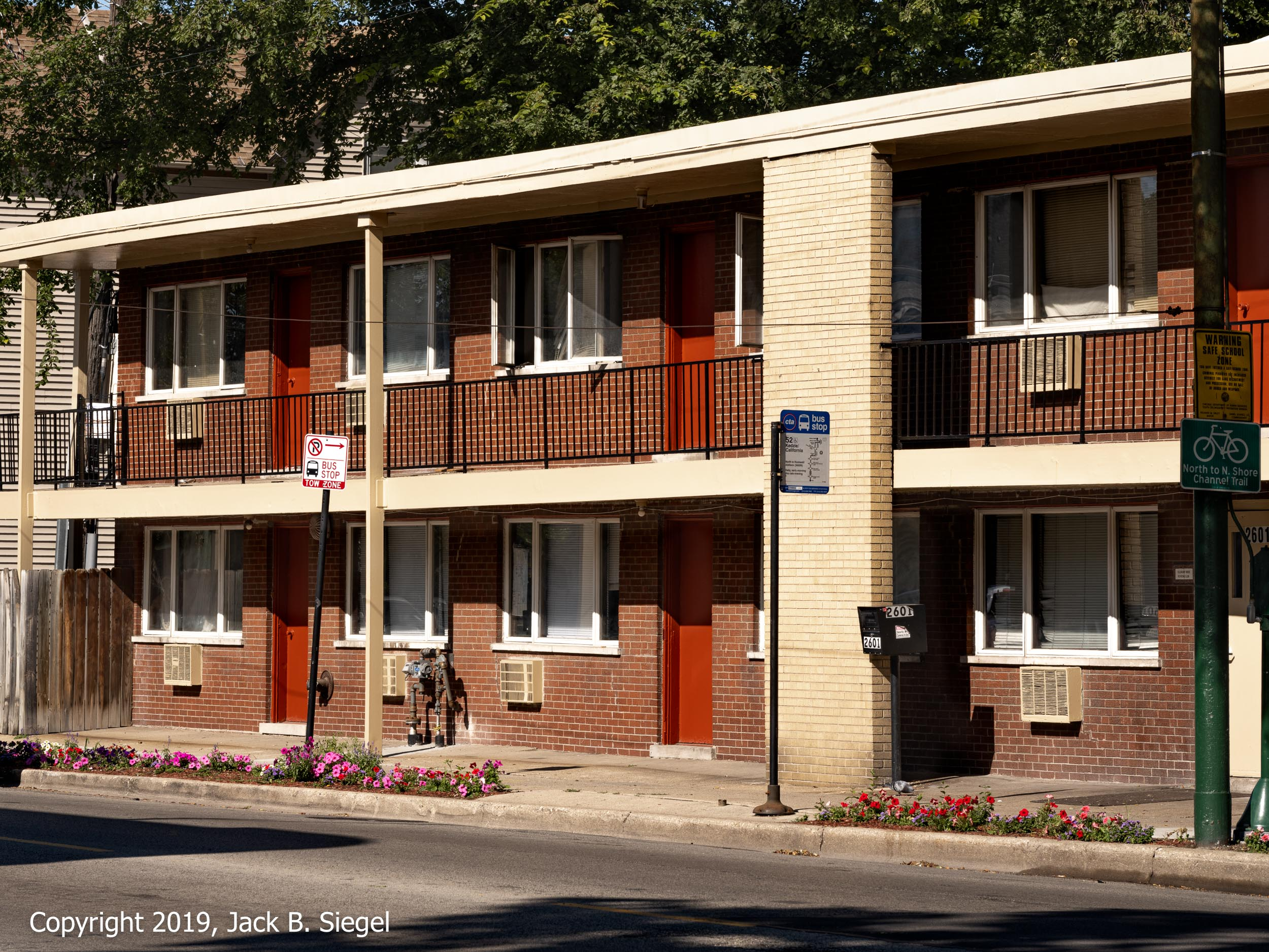 Fifties Housing in the Afternoon Sun (Logan Square)