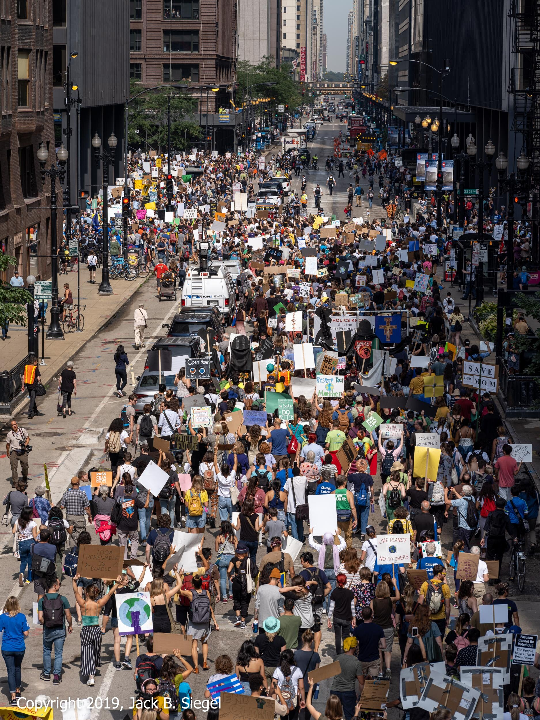 The Demonstrators Head to Federal Plaza