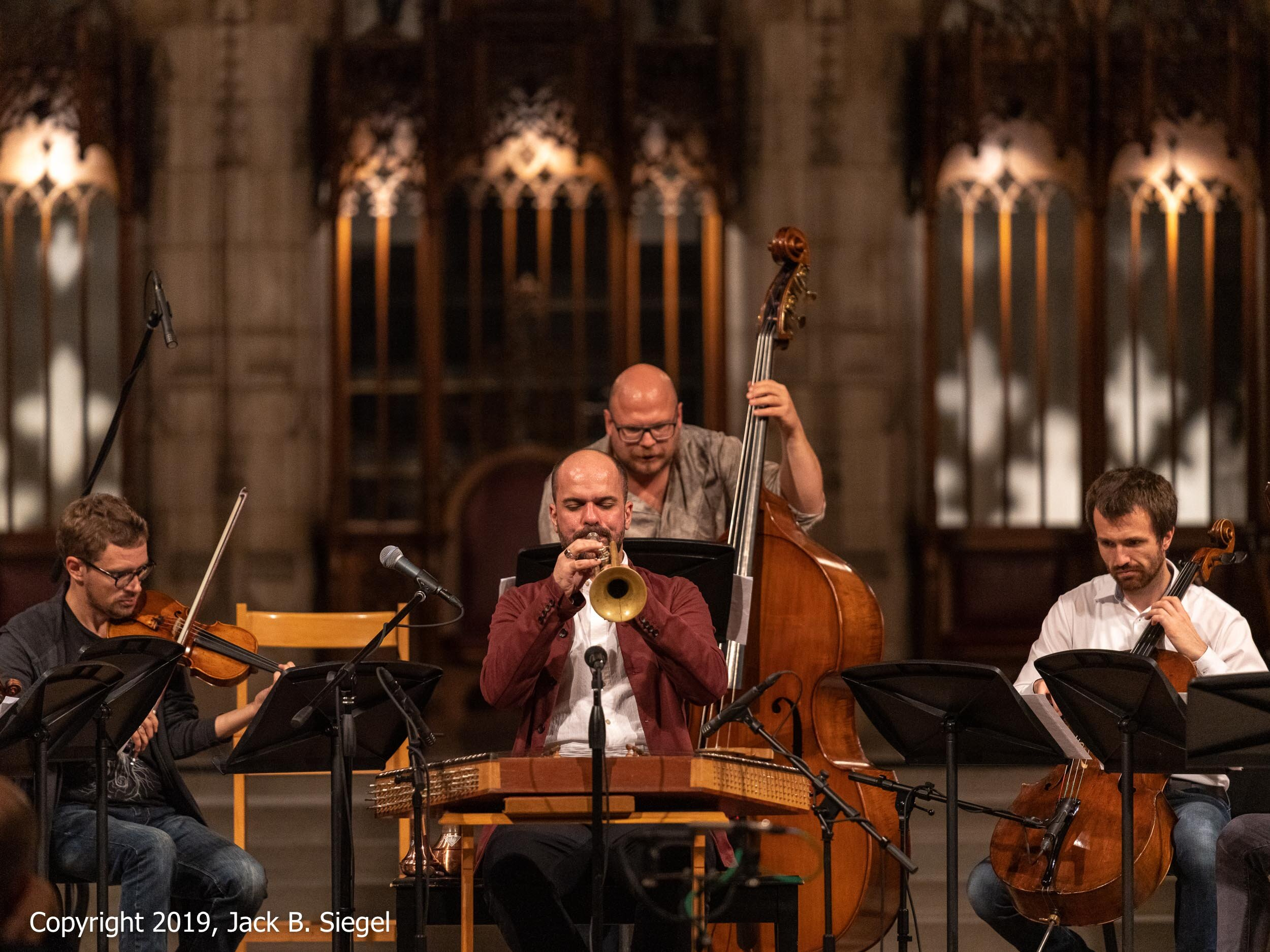 Amir Elsaffar and Company Perform  Ahwaal  in Rockefeller Chapel to Close the First Day of the Festival