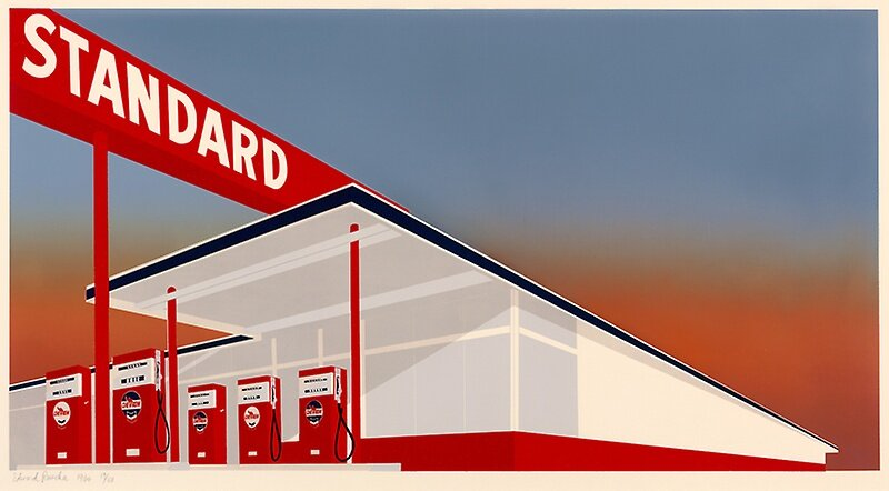 Standard Oil Station, 1966  by Ed Ruscha
