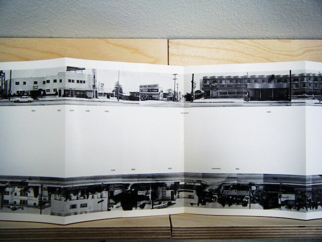 Fold out from  Hollywood Boulevard  by Ed Ruscha