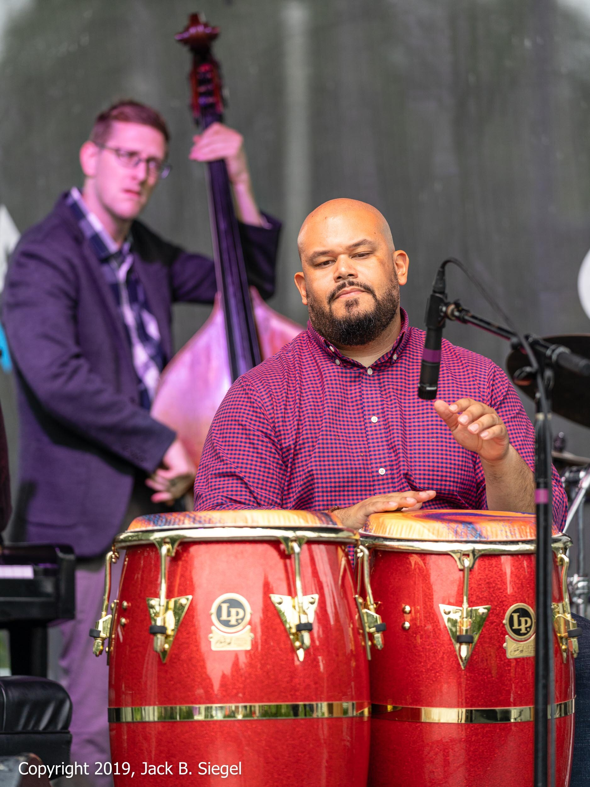 Unidentified Conga Player with Juan Pastor