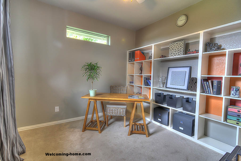 home office staged