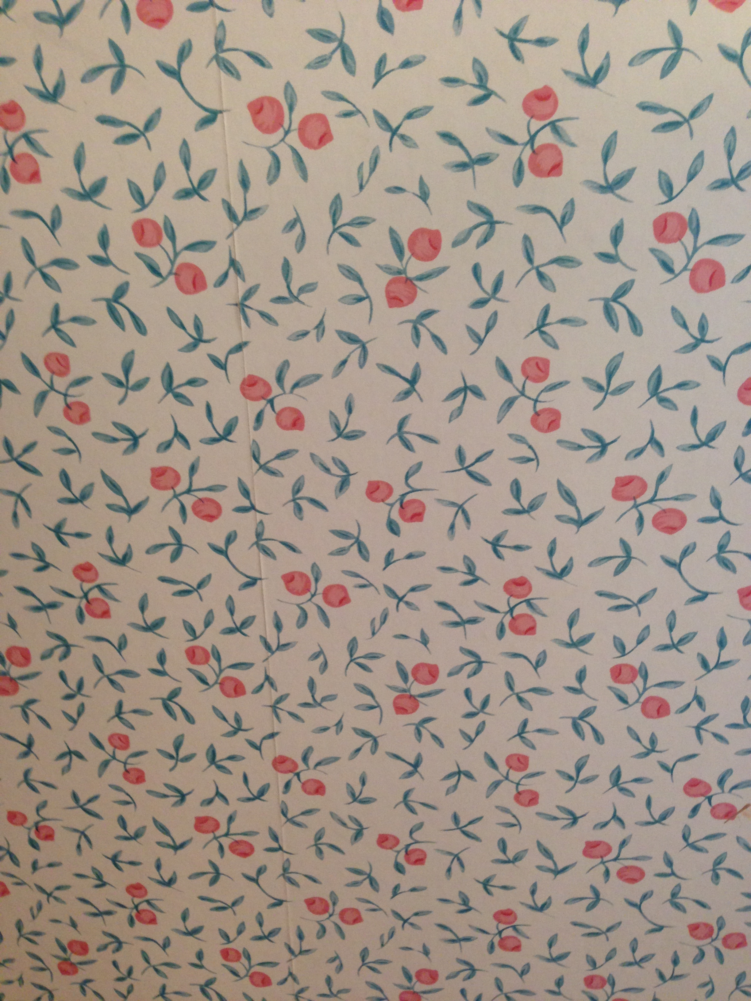 oh my this wallpaper is hideous!