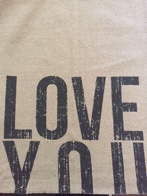 LID FABRIC - This is the love you more blanket.  I've cut off the more part and will be using the