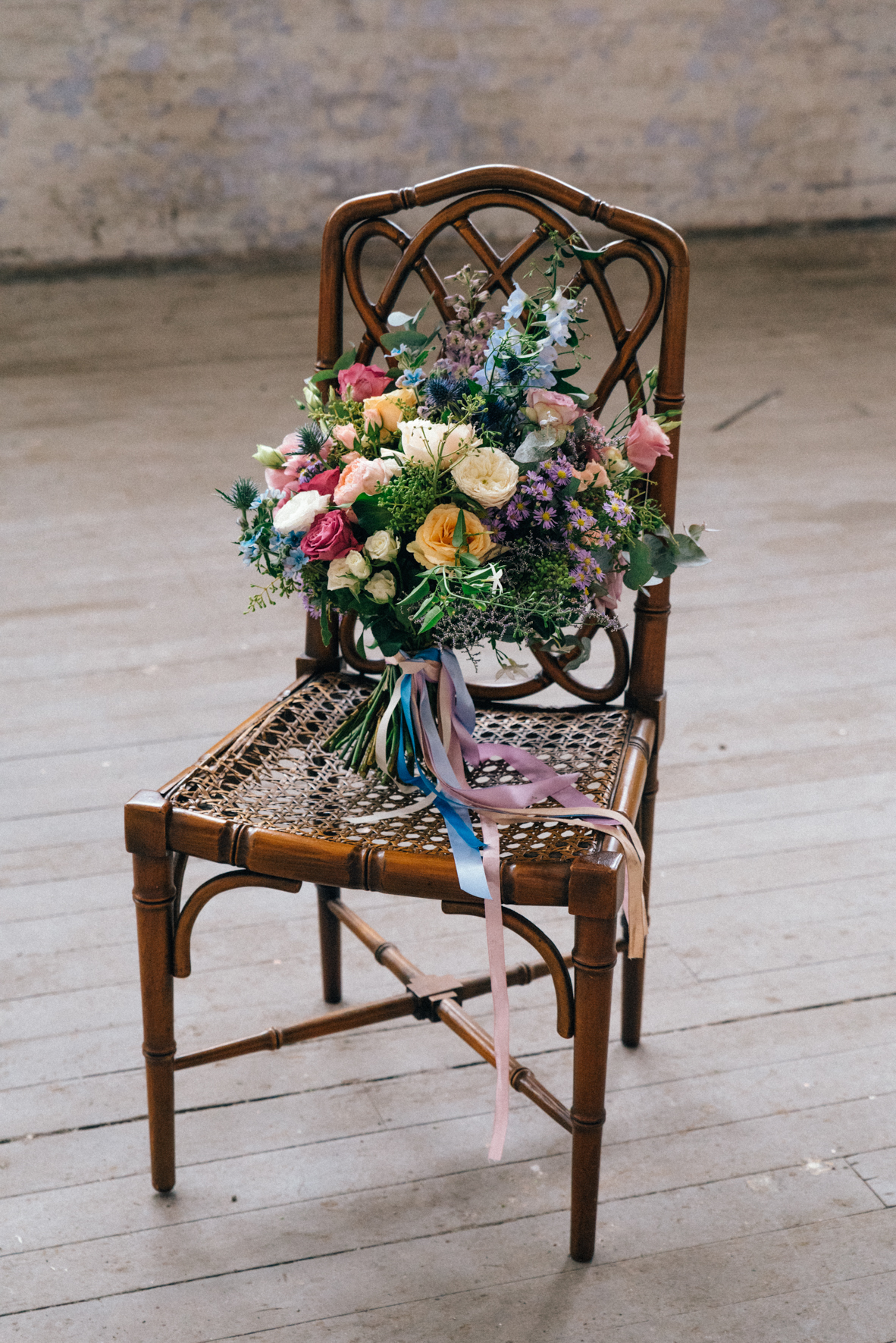Stunning industrial wedding flower set up in Melbourne, Australia