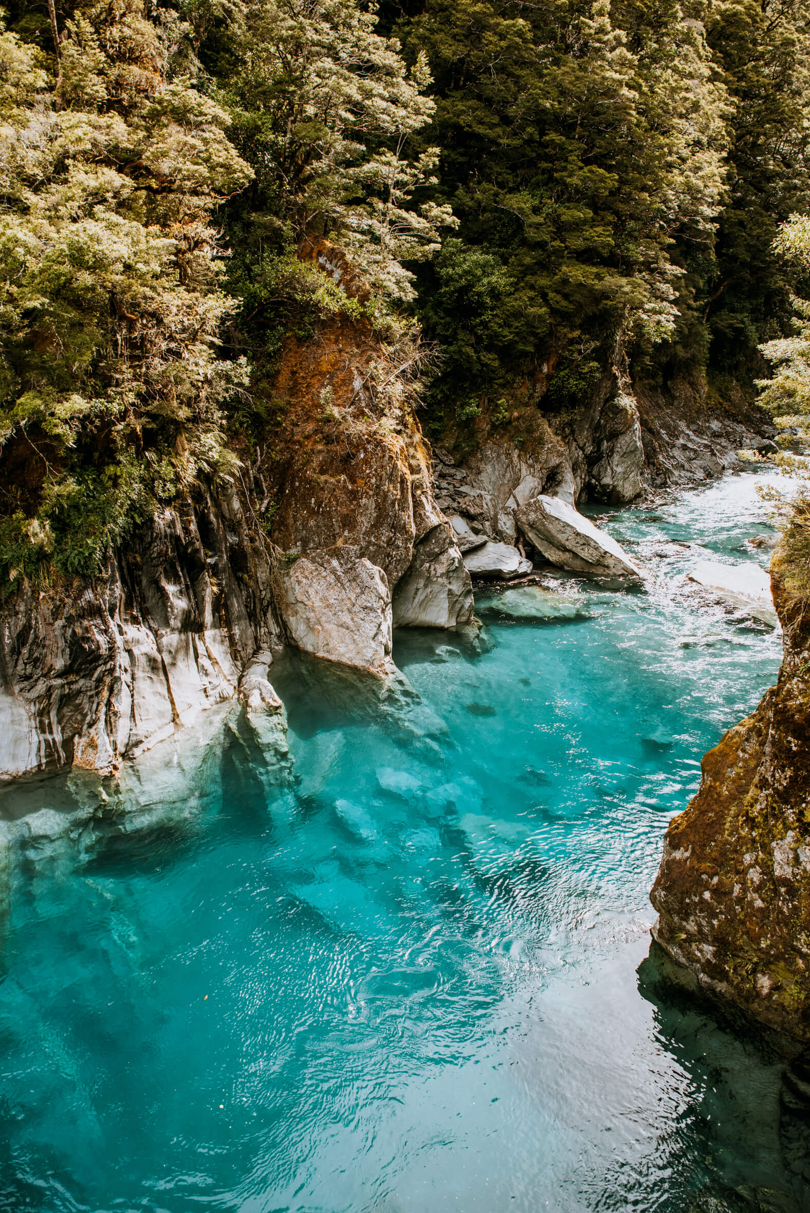 Melbourne photographer captures the cold Blue Pools, in the South Island of New Zealand
