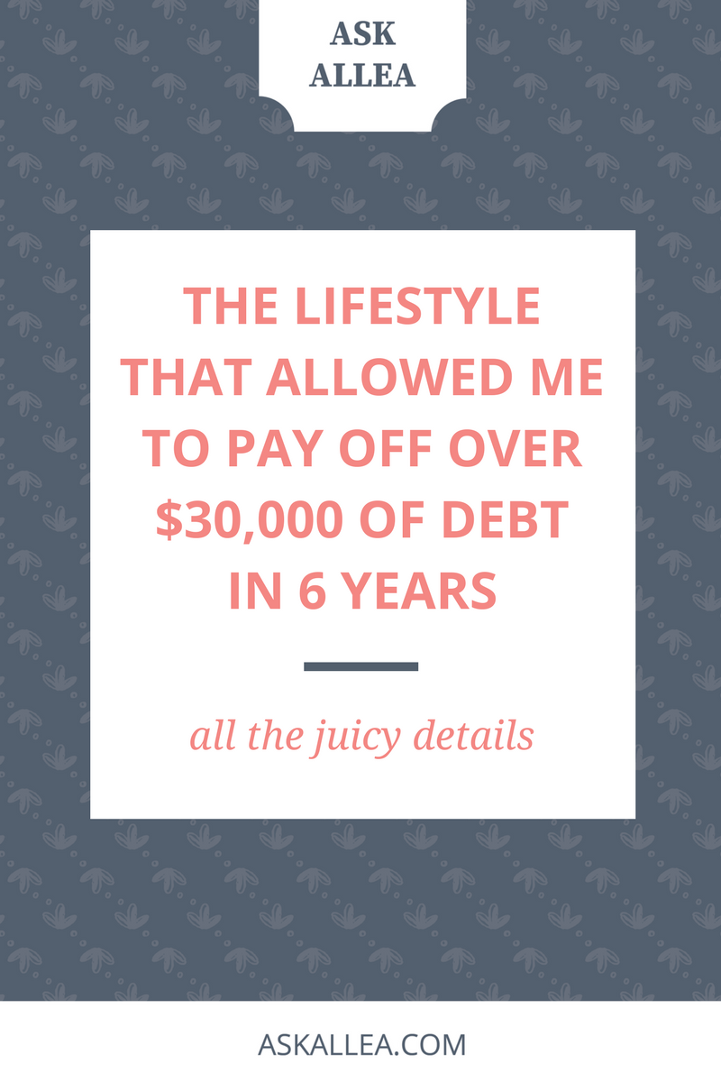 The Lifestyle that Allowed Me to Pay Off Over $30,000 of Debt in 6 Years // Ask Allea