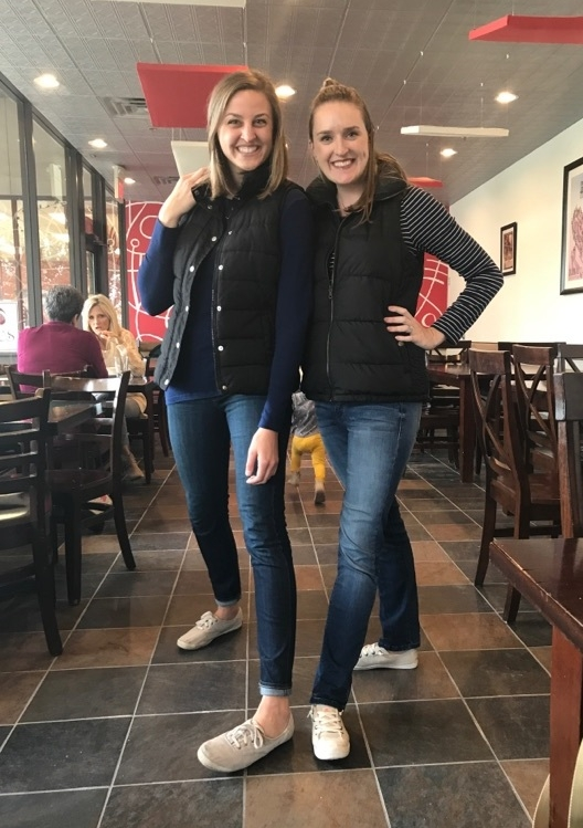 Even better if you show up to lunch in matching outfits